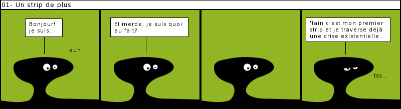 un strip de blobs
